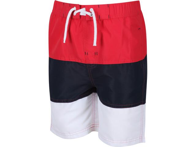 Regatta Shaul III Board Shorts Kids, true red/navy
